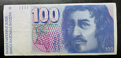 {Bjstamps}  1975 Switzerland , Suisse 100 Francs Vf