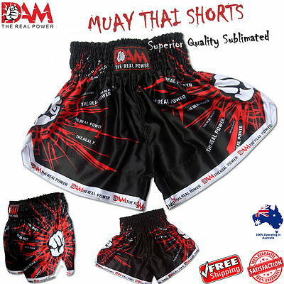 Genuine Dam Black Muay Thai Boxing Short Mma Boxing Muay Thai, Kick Boxing New