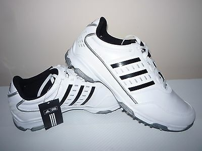 Adidas Golflite Traxion Men Leather Golf Shoes Size:7.5 UK/41.5 EUR
