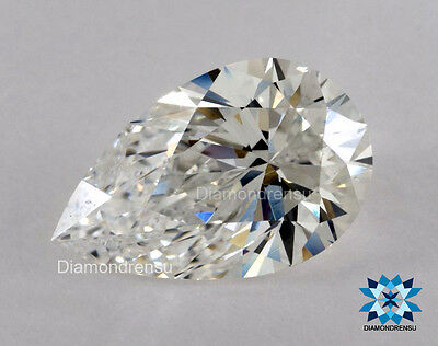 Pear shaped Loose Moissanite G - color 5.55 x 8.68 mm