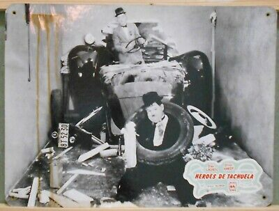 WK71 HELPMATES STAN LAUREL OLIVER HARDY rare SPANISH Big Lobby Card D