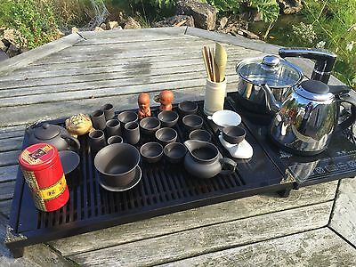 Gong Fu Tea Set And Electric Hob Traditional Style