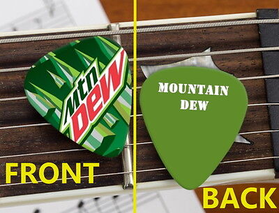 Mt. Mountain Dew Soda Pop Drink Set of 3 premium Promo Guitar Pick Pic