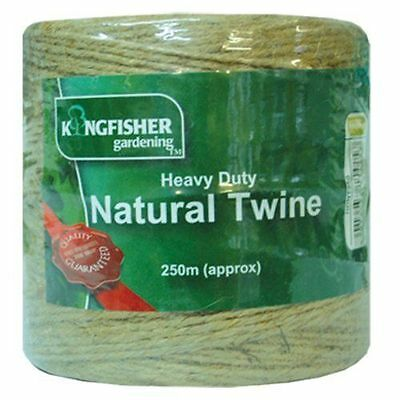 250m Green Heavy Duty Natural Twine - Kingfisher HDNT250