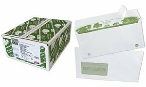 GPV Boite 500 enveloppes recyclees extra Blanches Erapure, Format C5 162x229mm f