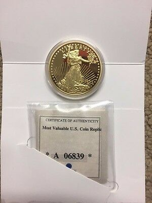 American Mint  1933 Gold Double Eagle Proof 24k Gold Plated a Beauty  Coin p101