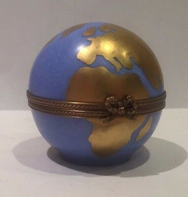 Limoges Trinket Box - Earth, Limited Edition, Rare