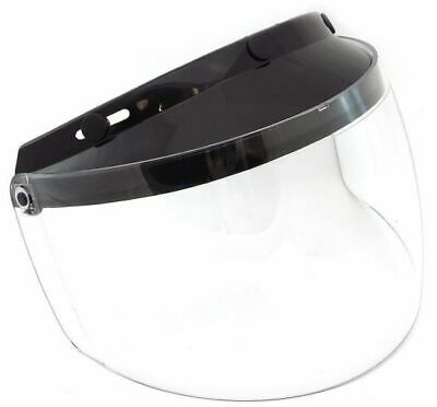 Gmax Universal 3-Snap Flip-Up Clear Motorcycle Helmet Face Shield
