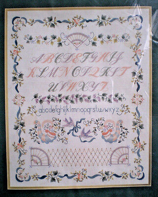 """Elsa Williams """"Victoriana Sampler"""" Crewel Embroidery Kit with Pearls & Beads"""