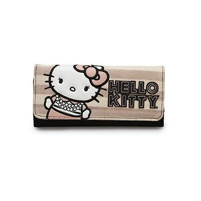 Hello Kitty Pearls / Stripe Shirt Tri-Fold Wallet Loungefly LF-SANWA0798