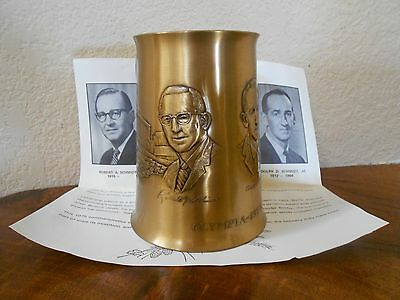 Vintage 1975 SOLID BRONZE Wendell August Forge OLYMPIA Brewing Co Beer Mug Stein