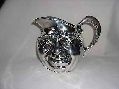 Reed & Barton SIlver Plate Sunny Jim Face Pitcher WWII Officers to Maj O'Donnell