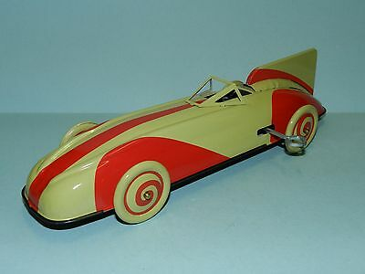 St. John Tin Toy Chad Valley Old Race Car Replica (Clockwork Action) New in Box