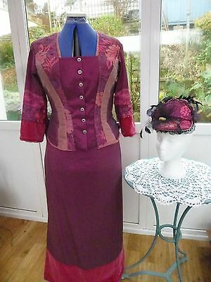 2 Piece Victorian Costume With Matching Hat Size 16/18