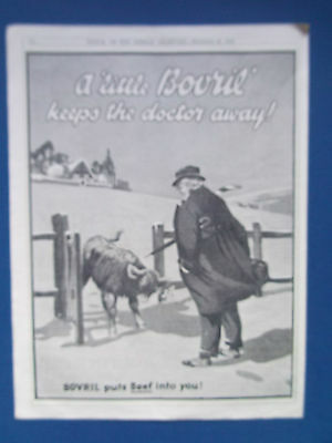 "BOVRIL ADVERT DATED 1925 ""A LITTLE BOVRIL KEEPS THE DOCTOR AWAY"" 22cm x 29cm"