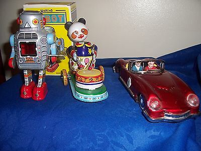 vintage tinplate toys in one lot