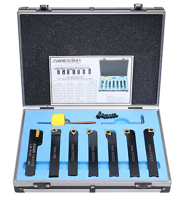 """7 Pieces, 5/8"""" Indexable Carbide Turning Tool Set in Fitted Box, #2387-2005"""