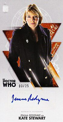 Doctor Who Widevision Autograph Jemma Redgrave As Kate Stewart (03/25)