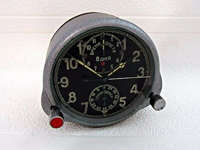 JAEGER LeCOULTRE 8 DAYS RUSSIAN AIR FORCE WWII VINTAGE SWISS  CHRONOGRAPH CLOCK