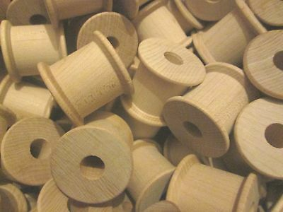 Large Fat Wooden wood Spools  5, 10, 15, or 20 bobbins , country crafts,