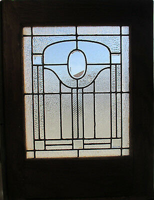 ANTIQUE AMERICAN STAINED GLASS WINDOW 30 x 38 ~ ARCHITECTURAL SALVAGE ~