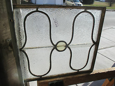 Small Antique American Stained Glass Window 20 X 18 ~ Architectural Salvage ~