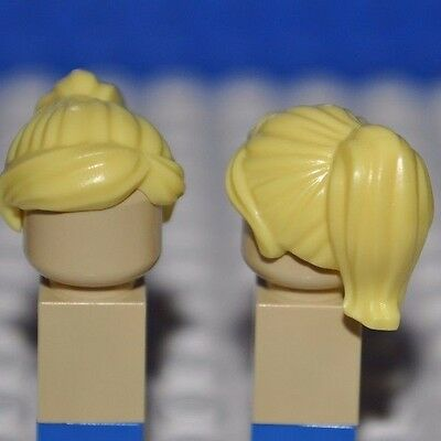 Lego Parts-Bright Yellow Hair Piece/blonde Minifigure Wig/girl Ponytail Fringe H