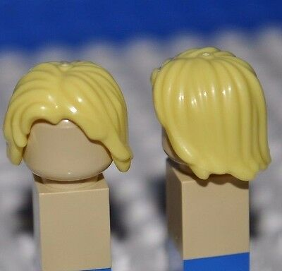 Lego Parts - Bright Yellow Hair Piece/blonde Minifigure Wig/mid-Length Tousled V
