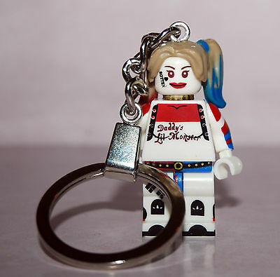 Crazy Harley Quinn  Keychain Key Ring  - Minifigure Suicide Squad - 7