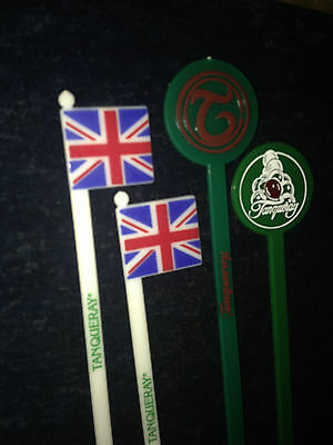 TANQUERAY GIN swizzle sticks LOT ~ ADVERTISING~ GREEN~ NICE~
