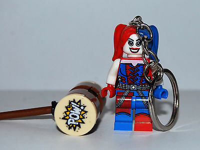 Crazy Harley Quinn  Keychain Key Ring  -  Suicide Squad Lego Batman Movie - 4