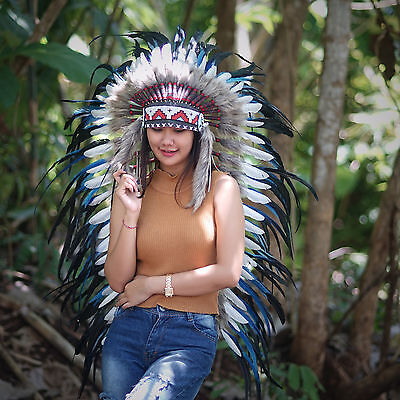Indian Costume, Indian Headdress, Native American, Chief Warbonnet, Feathers