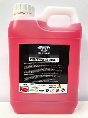 1 Litre Moss Killer Hard Surface Cleaner Clear Algae Driveway Patio Last Upto