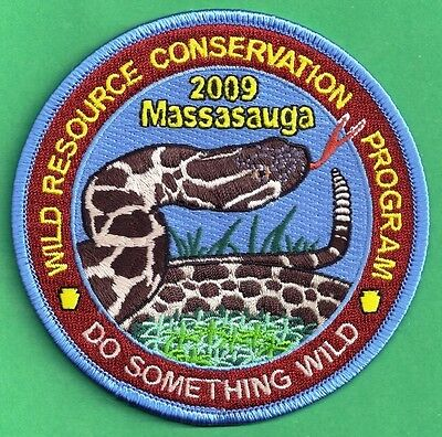 Pa Pennsylvania Fish Game Commission Related 2009 WRCF Massasauga Snake Patch