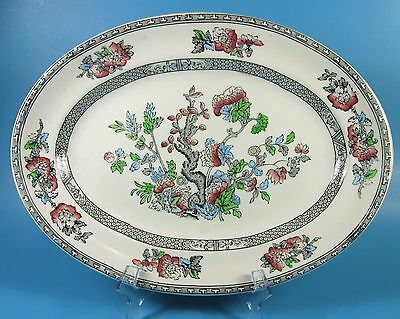 "Wood's INDIAN TREE 12"" Oval Serving Platter Burslem England c.1931 Wood & Sons"