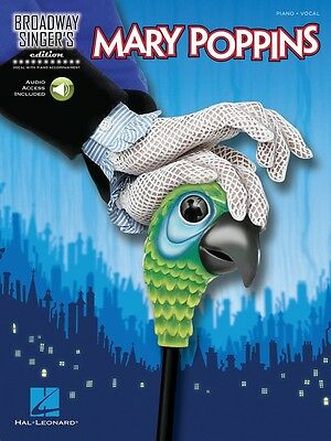 Mary Poppins Broadway Singer's Edition Vocal Music Book with Piano Accompinament