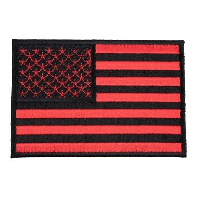 American Flag Red & Black Patch, U.S. Flag Patches