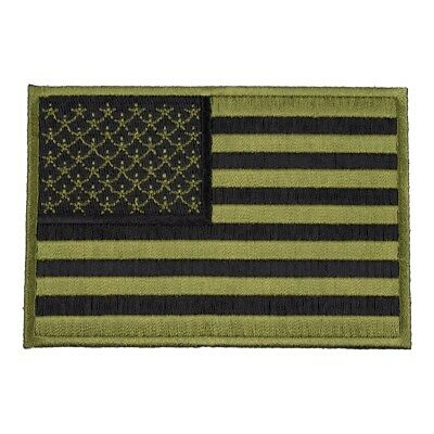 American Flag Green & Black Patch, U.S. Flag Patches