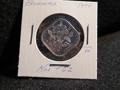 Bahama Islands:   1974     15  Cents   Coin  Proof   (Unc.)   (#3827)  Km # 62
