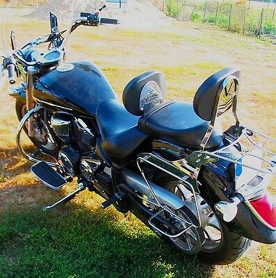 Sissy Bar Passenger Backrest + Luggage Rack Yamaha Xvs 1300 Xvs1300 Midnightstar