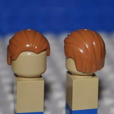Lego Parts - Light Brown Hair Piece/medium Flesh Minifigure Wig/combed To Rear S