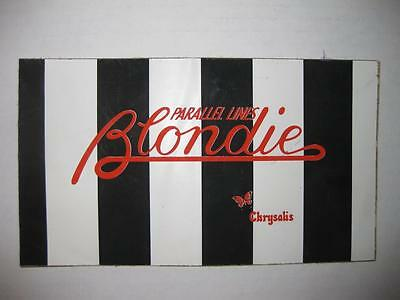 "Blondie - Parallel Lines 7""x 4"" Chrysalis Vintage Promotional Sticker"