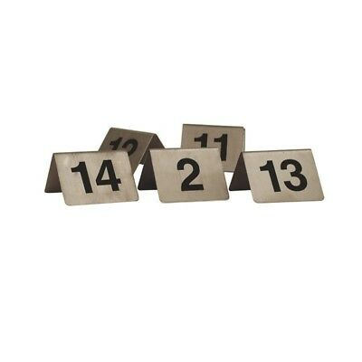 "Table Number Set Stainless Steel ""A Frame"" 11-20 NEW CAFÉ RESTAURANT COMMERCIAL"