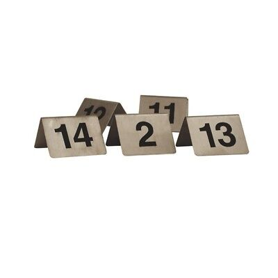 """Table Number Set Stainless Steel """"A Frame"""" 1-10 NEW CAFÉ RESTAURANT COMMERCIAL"""