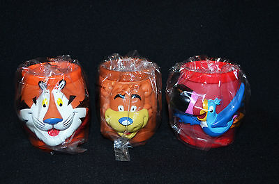Kellogs Collectable Plastic Mugs x 3 Vintage Rare 90's