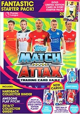 TOPPS PREMIER LEAGUE MATCH ATTAX  2016/2017 Starter Pack Plus Trading Card Packs