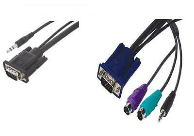 Audio PS2 VGA KVM Cable 1.8m *