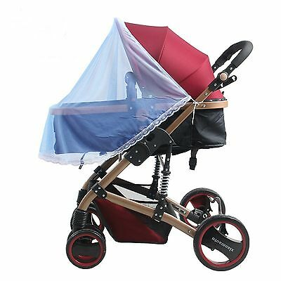 Blue Insect Cover Mosquito net sun dust protect protection mesh Pram/Stroller