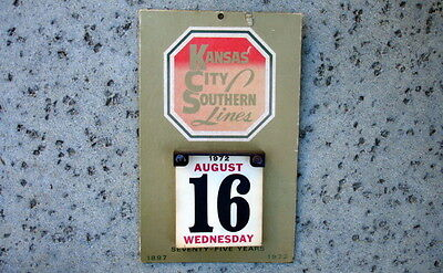 1972 Kansas City Southern Lines Station Wall Calendar~75 Years~Railway~Railroad