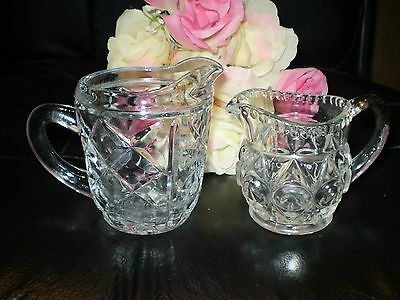 2 Lovely Old Cut Glass And Crystal Milk Or Cream Jugs.